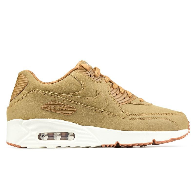 Nike Air Max 90 Suede FlaxFlaxSailGum Brown 924447 200