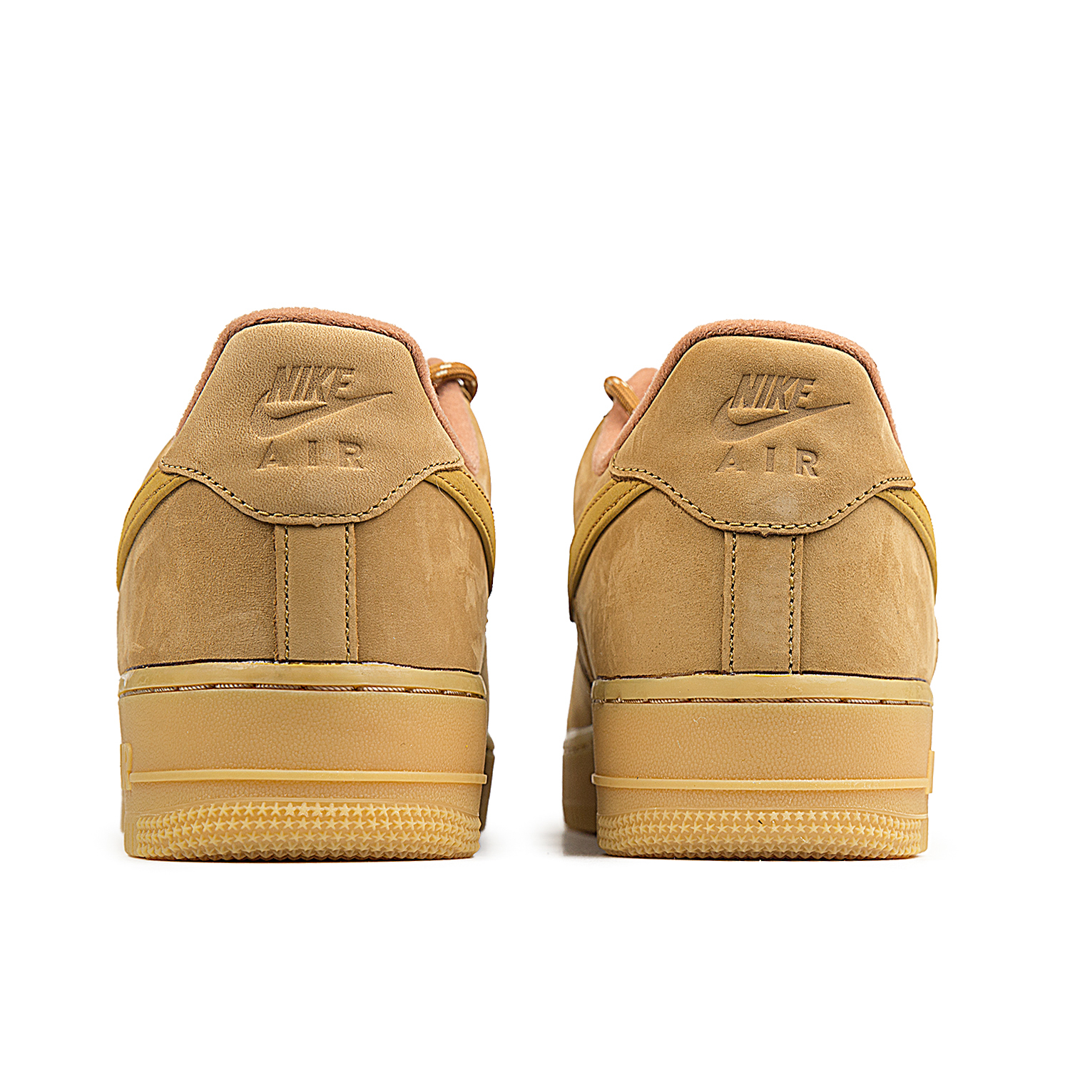 Nike Air Force 1 07 Mens Flax Brown Wheat Leather Shoe