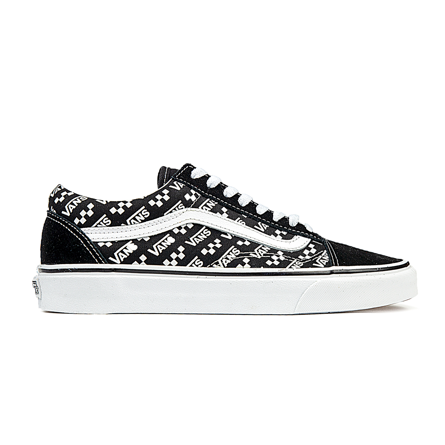Vans Old Skool (Logo Repeat) BlackTrue White Shoes